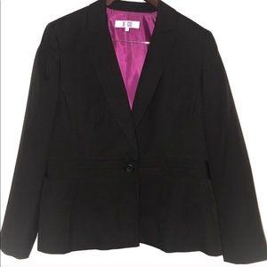 Nine & Co Black Pinstripe Blazer Jacket Womens 16